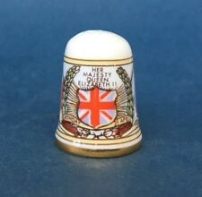 Caverswall Thimble - Queen Elizabeth II Birthday 1986