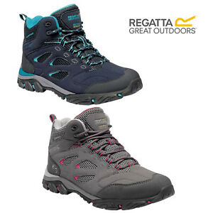 Regatta Womens Holcombe IEP Mid Ankle Waterproof Lace Up Outdoor Walking Boots