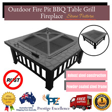 New Outdoor Patio Garden Fire Pit Fire Place Grill BBQ Camping Brazier Table