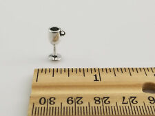 Lot of 140 Silver Tone Wine Glass Goblet Charms 15mm height