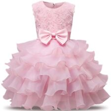 Infant-Baby-Kid-Girl-Birthday-Wedding-Pageant-Party-Princess-Lace-Bow-Dress 1yr