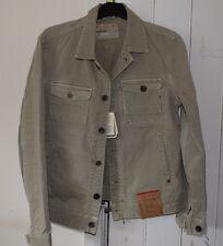 Replay Blue Jeans 100% Cotton Beige Jacket Size L BNWT