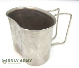 Dutch Army Stainless Steel Cooking Mug Cup Metal Cooking Open Fire Boiling Cups
