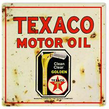 Reproduction Texaco Golden Motor Oil Sign 12X12