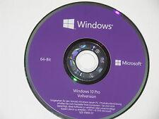Neue Microsoft Windows 10 Professional  64 Bit - DVD & Produktschlüssel