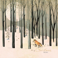 Pack of 8 Woodland Fox Marie Curie Charity Christmas Cards Xmas Card