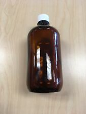 32-Ounce Amber Boston Round Bottles (5-Pack) PP lid