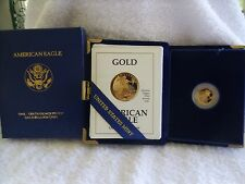 United States 1991 P American Eagle $5 Five Dollar PROOF Gold Coin 1/10th Ounce