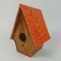 Aldred's Ceramics Bird House Shaped Orange Brown Cute Hang Vintage Boring Oregon