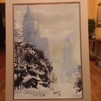 """Winter in Central Park"" Painting by Bogomir Bogdanovic"