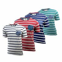 Mens T-Shirt by Smith & Jones, Striped Short Sleeved top, V neck Tee