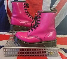 Rare 1460*Bright Hot Pink Patent Leather Dr Doc Martens*Kawaii*Kitsch*Punk*UK 3