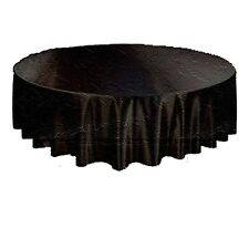 BLACK-Gothic Damask Brocade ROUND TABLE CLOTH TOPPER Halloween Decoration-29inch