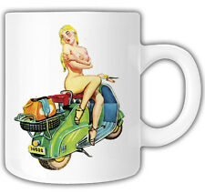 PINUP GIRL SCOOTER MUG Mr Oilcan Exclusive Design Scooter vespa
