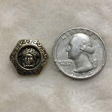 One (1) Versace/Medusa Head Gold Tone Hexagonal Metal Button