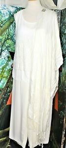 COCKTAIL PALAZZO PANTS  SUIT SEPARATE PLUS  IVORY18W/2X