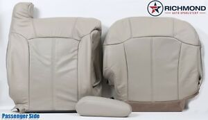 2002 Cadillac Escalade EXT PASSENGER Complete PERFORATED Leather Seat Covers TAN