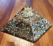 Pyramide Orgonite Nombre d'Or Khéops Quartz shungite Protection Wifi 4G 5G