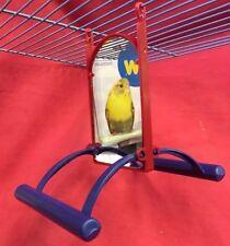 Pájaro Juguete doble cara espejo Y Perchas Interactivo Periquito Canario cacatúa Finch