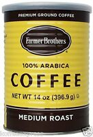 FARMER BROTHERS MEDIUM ROAST 100% ARABICA 14 oz CAN GROUND COFFEE