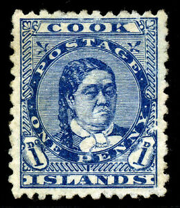 Cook Islands. 1894. 1d. Blue. SC# 10. SG 6. MNG