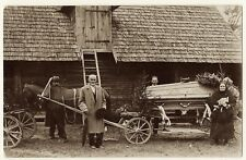 Photograph Of A Funeral Procession In A Small Latvian Village (Vintage Rppc)
