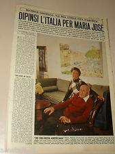 MICHELE CASCELLA pittore clipping articolo foto photo 1972 DIPINSI L'ITALIA