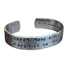 I carry your heart with me (I carry it in my heart) Cummings - Cuff Bracelet ...