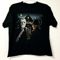 Freddy Krueger vs Jason Voorhees Black T-Shirt Nightmare on Elm Street Size XL