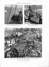 Chasse la baleine navire-usine canon-harpon/ Remorqueur de sauvetage Iroise 1959