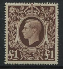 GB KGVI 1948 £1 brown mint o.g. hinged