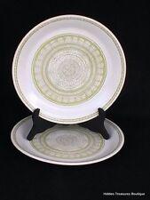 Franciscan Earthenware Hacienda Green 2 Dinner Plates Floral Geometric Design