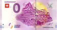 SUISSE Zermatt, Gornergrat, N° de la 3ème liasse, 2018, Billet 0 € Souvenir