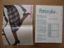 Patron Plus Patroon JUPE PORTEFEUILLE 48 MODE vintage FASHION