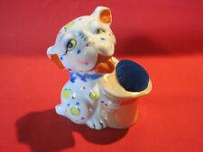 Vintage porcelain Bonzo dog figurine pin cushion