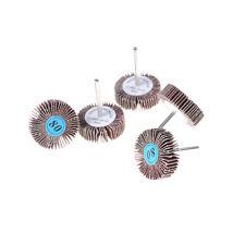 5Pcs 32mm 80 Grit Grinding Sanding Sandpaper Polisher Flap Wheel Rotary Tool  Gn
