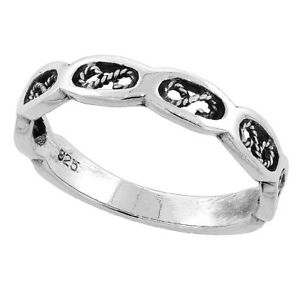 Sterling Silber Filigran Wirbel Ehering