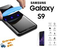 GLASS CRISTAL TEMPLADO 3D PROTECTOR TRANSPARENTE UV PARA SAMSUNG GALAXY S9