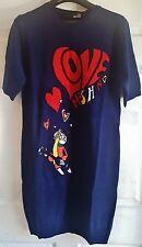 Love Moschino Short Sleeve Wool Blend Knit Sweater Dress Women's Blue Size 4