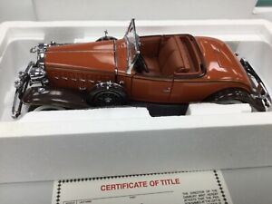 Danbury Mint 1:24 1932 32 Cadillac V-16 Roadster Die Cast Limited Edition RARE