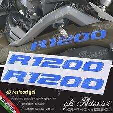 2 Adhésifs de Réservoir Moto BMW R 1200 GS Adventure LC 280 X 30 mm 3D Bleu