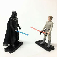 "Lot 2pcs Star Wars LUKE SKYWALKER & DARTH VADER 3.75"" Hasbro action figure toy"