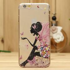 Angel Fashion Pattern Transparent Hard Back Case Cover For iPhone 5S