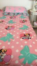 Vintage 80s 90s Disney's Minnie Mouse Pink & Teal Twin Bedding Comforter + Sham