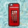 Red Phone Box British Retro Black Phone Case