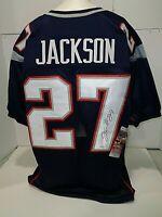 J.C. Jackson New England Patriots Autographed Signed Blue Style Jersey JSA