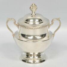 Poole Sterling Silver Georgian Lidded Sugar Bowl