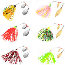 20pcs Fishing Spinnerbait Jigs Head Rubber Fishing Lures For Pike Bass Fishing
