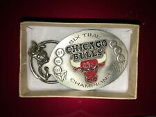Chicago Bulls NBA Basketball Team Pewter Key Chain NOS 1998 New Great American
