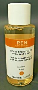 "REN ""READY STEADY GLOW"" TONIC 1.7 fl oz / Larger Travel-Size NEW *"
